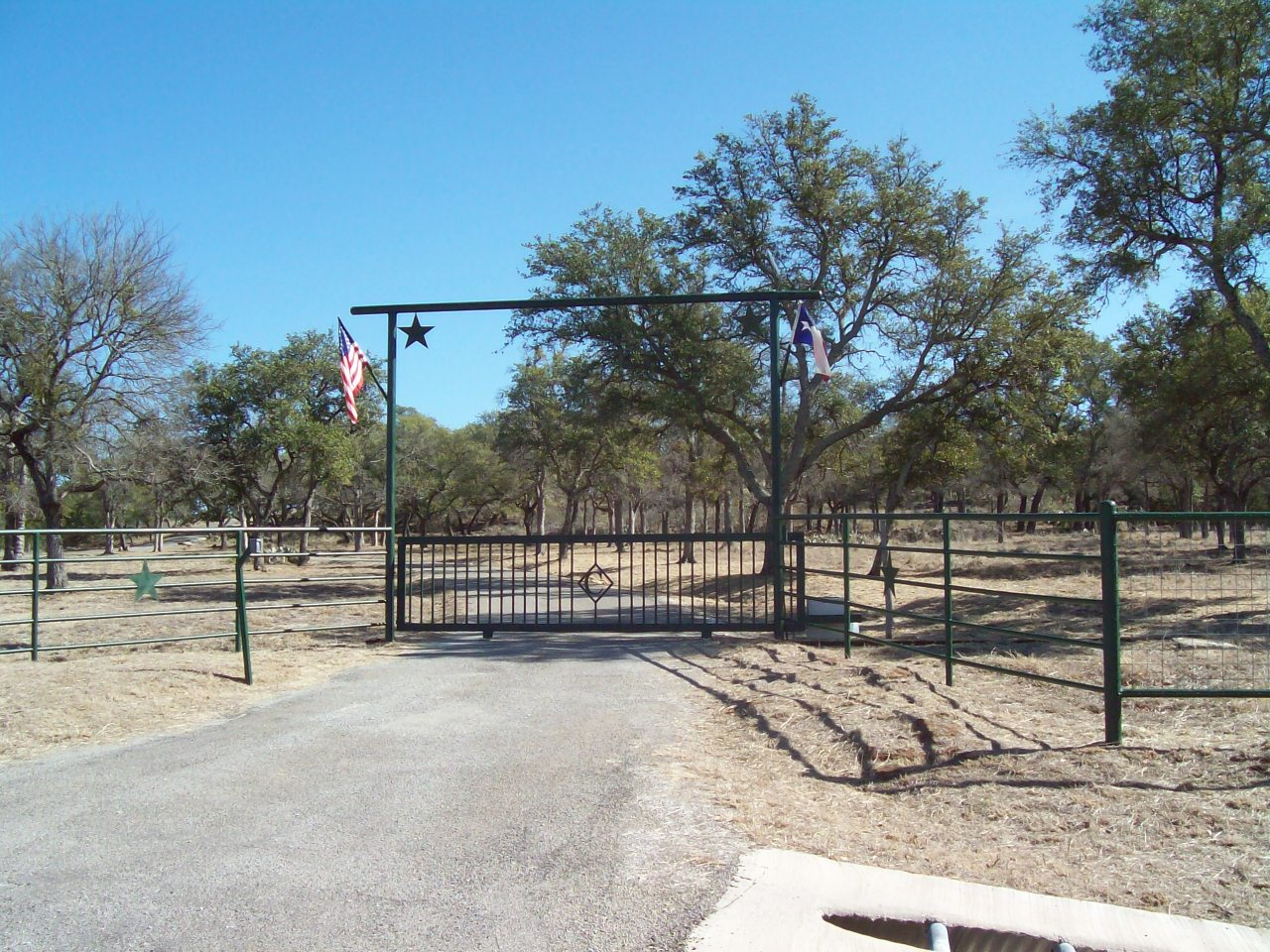 Entrance to our ranch. Click to enlarge.